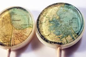 Map Favors by Map Wedding Ideas Lollipops