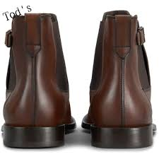 the lowest price tods well sale tods leather ankle boots brown