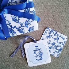 chinoiserie wrapping paper blue and white chinoiserie blossom gift wrapping paper by