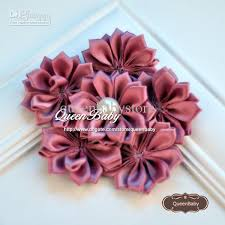 flowers for headbands satin ribbon fabric flower diy cluster flowers headbands accessory
