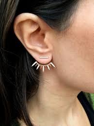 jacket earrings gold ear jacket ear jacket earrings spike ear jacket earring