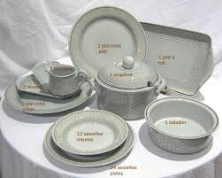 Guy Degrenne Serenity by Earthenware 44 Parts Dinner Set Dalarna By Villeroy U0026 Boch