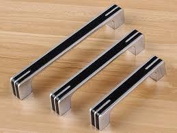 contemporary kitchen cupboard door handles 3 75 5 6 3 black silver dresser pulls drawer etsy modern