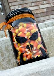 Halloween Candy Jars by Sassy Sanctuary Painted Glass Candy Jar