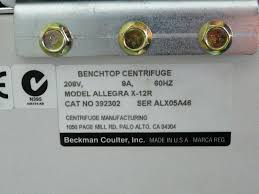 Bench Top Centrifuge Beckman Allegra X 12r Refrigerated Bench Top Centrifuge With Rotor