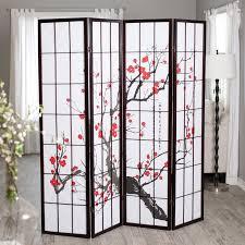 jakun 4 panel shoji room divider with optional stand hayneedle