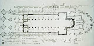 floor plan of the abbey church of saint denis 1140 1144