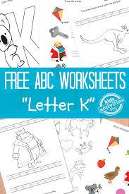 letter k worksheets free kids printable