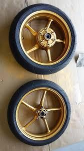 painted my wheels gold triumph675 net forums