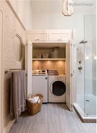 How To Build A Bathroom In Basement Hidden Laundry Room In A Bathroom Just Use The Washer As A Dirty
