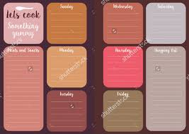 editable menu templates weekly menu template 20 free psd eps format free