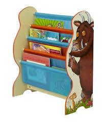 Fabric Sling Bookshelf The Gruffalo Kids Sling Bookcase Bedroom Storage By Hellohome