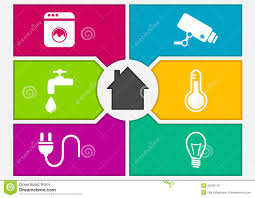 Home Automation Logo Design Vector Illustration Of Colorful Smart Home Automation Screen