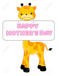 s day giraffe giraffe with happy s day notice board isolated on