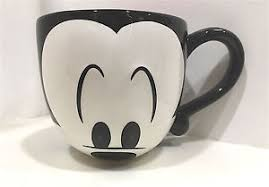disney parks cute mickey mouse face signature large 20 oz ceramic