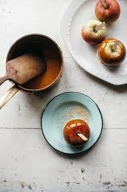 tahini caramel apples u2014 molly yeh
