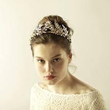 gold headpiece gold leaf crown headpiece bridal