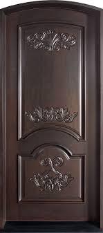 single door design front door custom single solid wood with espresso finish