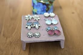 earring stud holder how to clay earring stand for your studs sisoo