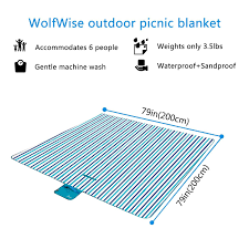 Picnic Rugs Melbourne Wolfwise Outdoor Picnic Blanket Waterproof Backing Travel Rugs