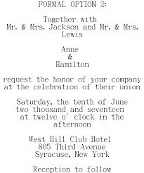 formal wedding invitation wording wedding invitations wording sles for different hosting situations