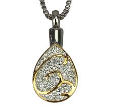 pendant for ashes golden teardrop cremation ashes urn pendant to treasure urn
