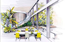 interior design sketch crafty 7 commercial interior design sketches restaurant drawing