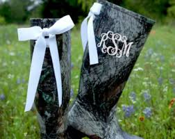 womens camo rubber boots canada boots etsy