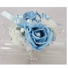 blue corsages for prom the floral touch uk wrist corsages prom corsage wrist