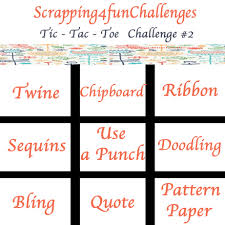 quote line item layout scrapping4funchallenges layout challenge 2 tic tac toe