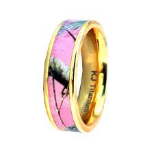 pink camo wedding rings cheap titanium wedding rings