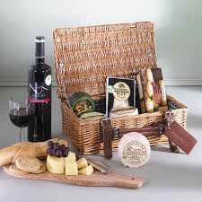 Wine And Cheese Basket Hamper Of Irish Cheeses U0026 Wine Delivered