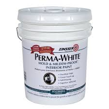 home depot 5 gallon interior paint zinsser 5 gal perma white mold and mildew proof eggshell interior