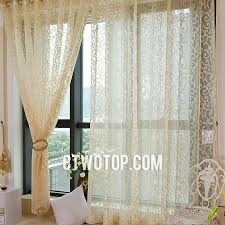 Patterned Sheer Curtains Beige Casual Simple Beautiful Traditional Patterned Sheer Curtains