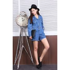 sleeve denim jumpsuit sleeves denim jumpsuit photo