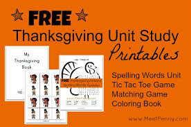 free thanksgiving unit study lesson plan and printables meet