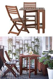 Ikea Folding Table And Chairs 106 Best Small Space Living Images On Pinterest Ikea Storage