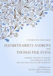 wedding invitation ideas artistic blue wedding invitation