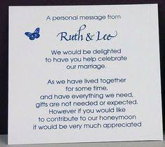 wedding gift message wedding invitation wording for a monetary gift pinteres