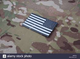 Blackhawk Flag Us Army Flag Patch On Camouflage Uniform Stock Photo Royalty Free