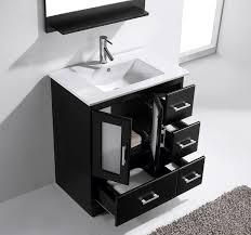 Bathroom Vanities 30 Inches Wide 30 Inch Modern Single Sink Bathroom Vanity Espresso Finishes