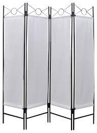 vidaxl 4 panel room divider privacy folding screen white 5 u00273