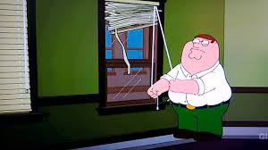 family guy peter struggles to open blinds youtube