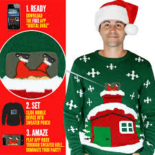 knitted crackling fireplace jumper outrageous gifts