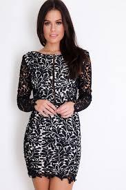 chloe long sleeve crochet lace bodycon dress girlinmind
