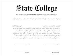 certificate fake degree certificate template