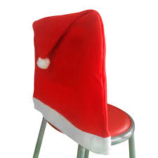 Santa Chair Covers Aliexpress Com Buy 6pcs Lot Christmas Chair Covers Santa Clause