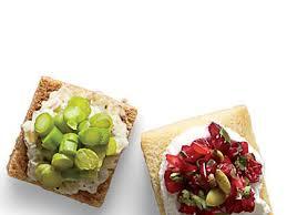 canapé toast squares recipe myrecipes
