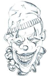 tattoo joker mask crazy coloring pages z art coloring pages evil clown sheets this