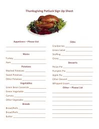 thanksgiving bestg food list ideas on printable